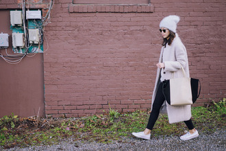 hey pretty thing blogger fuzzy coat streetwear streetstyle long coat marc jacobs pink coat