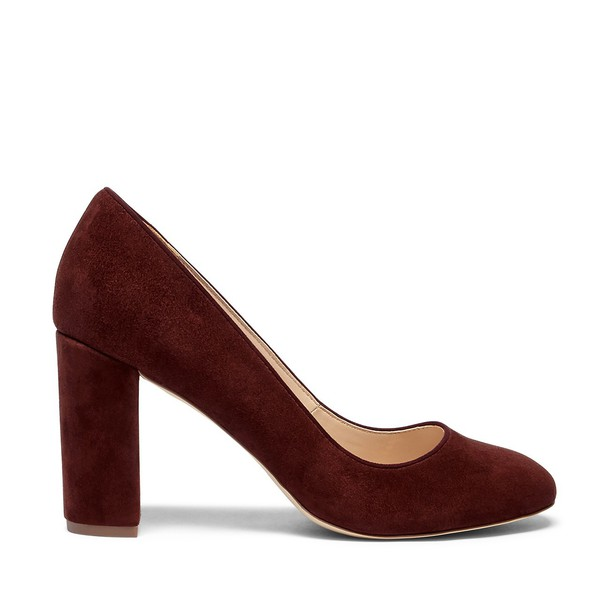 Sole Society Giselle Block Heel Pump - Red Wine-8.5