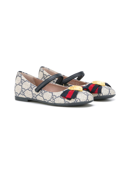 Gucci Kids bow leather shoes