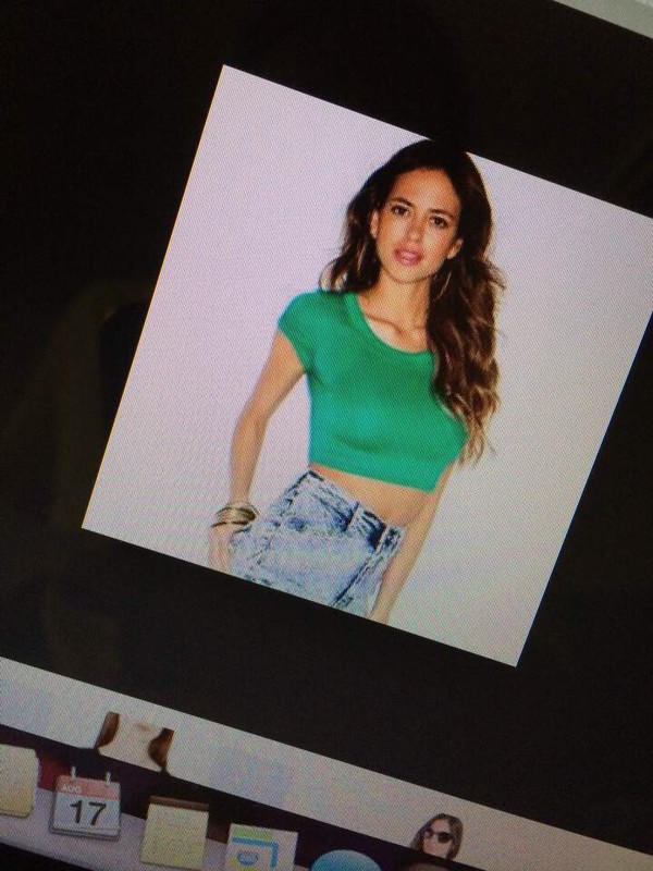 t-shirt green crop top tee colorful