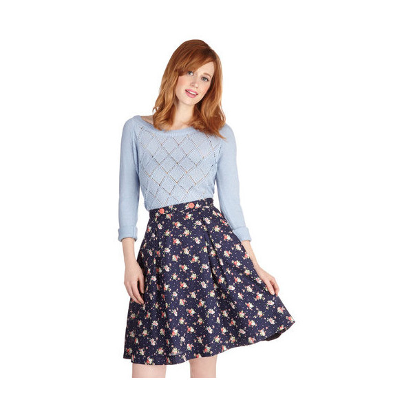 ModCloth Mid-length Full Modern Romance Skirt - Polyvore