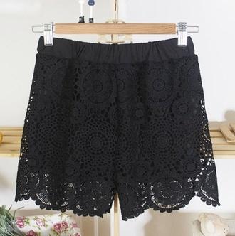 top lace shorts crochet high waisted shorts skirt chanel luxury crochet shorts winter sweater fall sweater