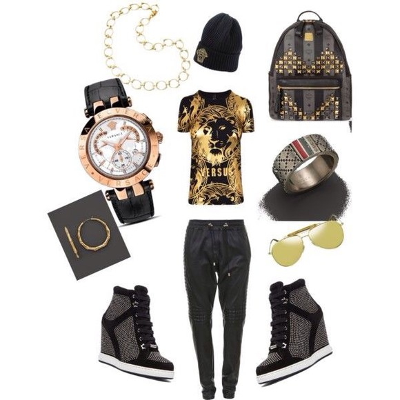 hat bag sneakers fashion