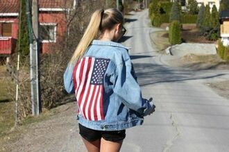 jacket shorts sunglasses usa denim jacket