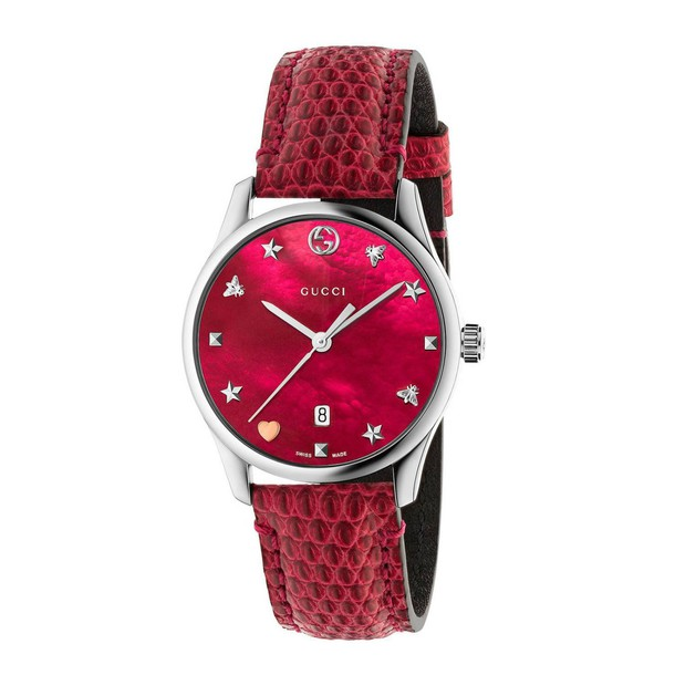 gucci watch red jewels
