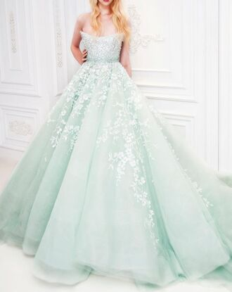 dress alice in wonderland mint ball gown dress princess dress lace dress lace sparkly dress elegant designer prom dress maxi dress mint dress