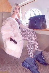 jumpsuit,khloe kardashian,kardashians,instagram,leggings,top,sportswear,celebrity,animal print,leopard print