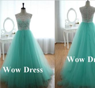 dress mint dress mint party dress mint prom dress ball gown dress