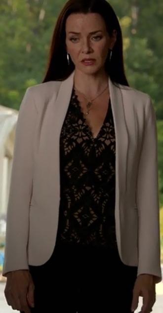top lily salvatore annie wersching the vampire diaries blazer jacket