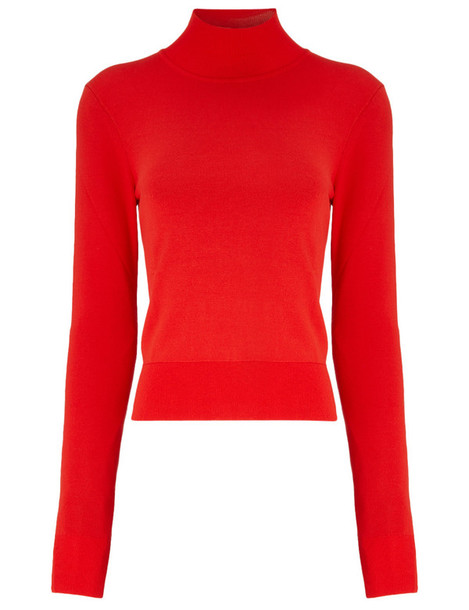 Osman jumper cropped red