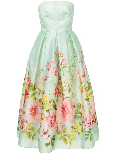 Bambah dress sweetheart dress women silk green