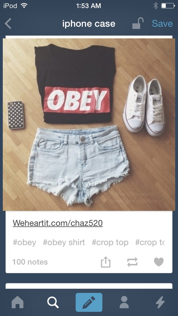 obey t-shirt shirt tumblr outfit hipster