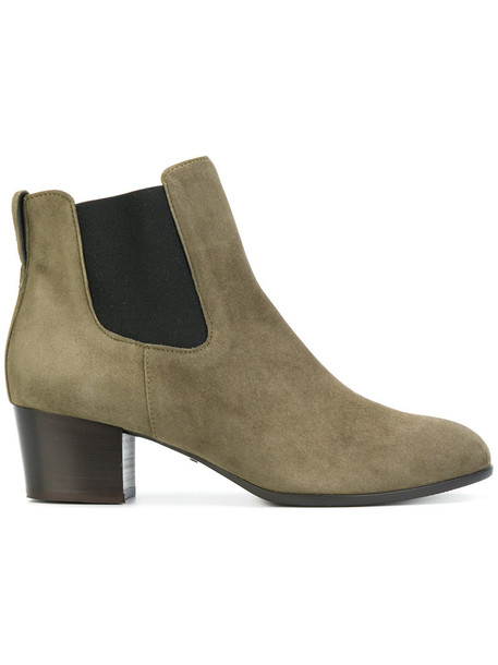 Hogan women leather suede grey shoes