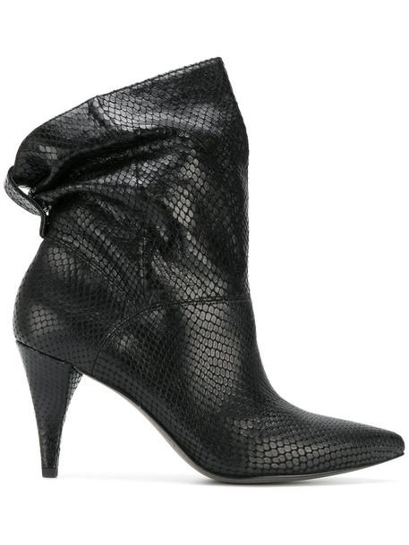 Michael Kors women ankle boots leather black shoes