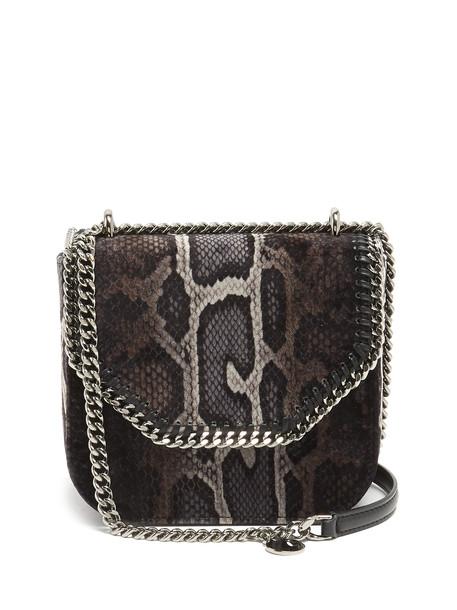 cross snake mini bag print black grey