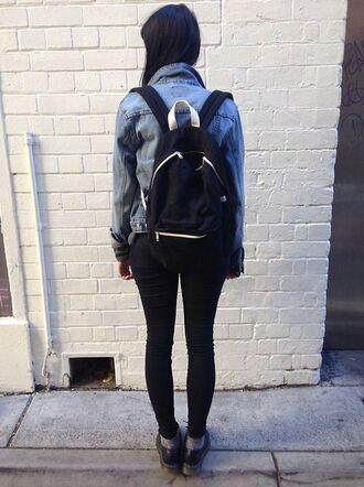 bag monochrome minimalist sporty casual black white drmartens backpack