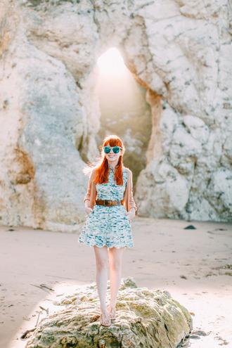 the clothes blogger sunglasses cardigan dress belt shoes