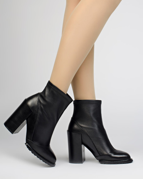 Shoes: fashion, boots, booties, black, black boots, platform shoes ...