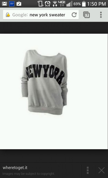 grey crewneck new york city