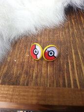 jewels,the glitzy hen,pokemon,pokemon earrings,pokemon jewelry,retro,stud earrings,yellow,yellow earrings