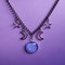 Pastel goth celestial necklace,grunge,witchy jewelry,gothic jewelry,moon necklace,kawaii,pastel goth moon necklace,pagan,soft grunge