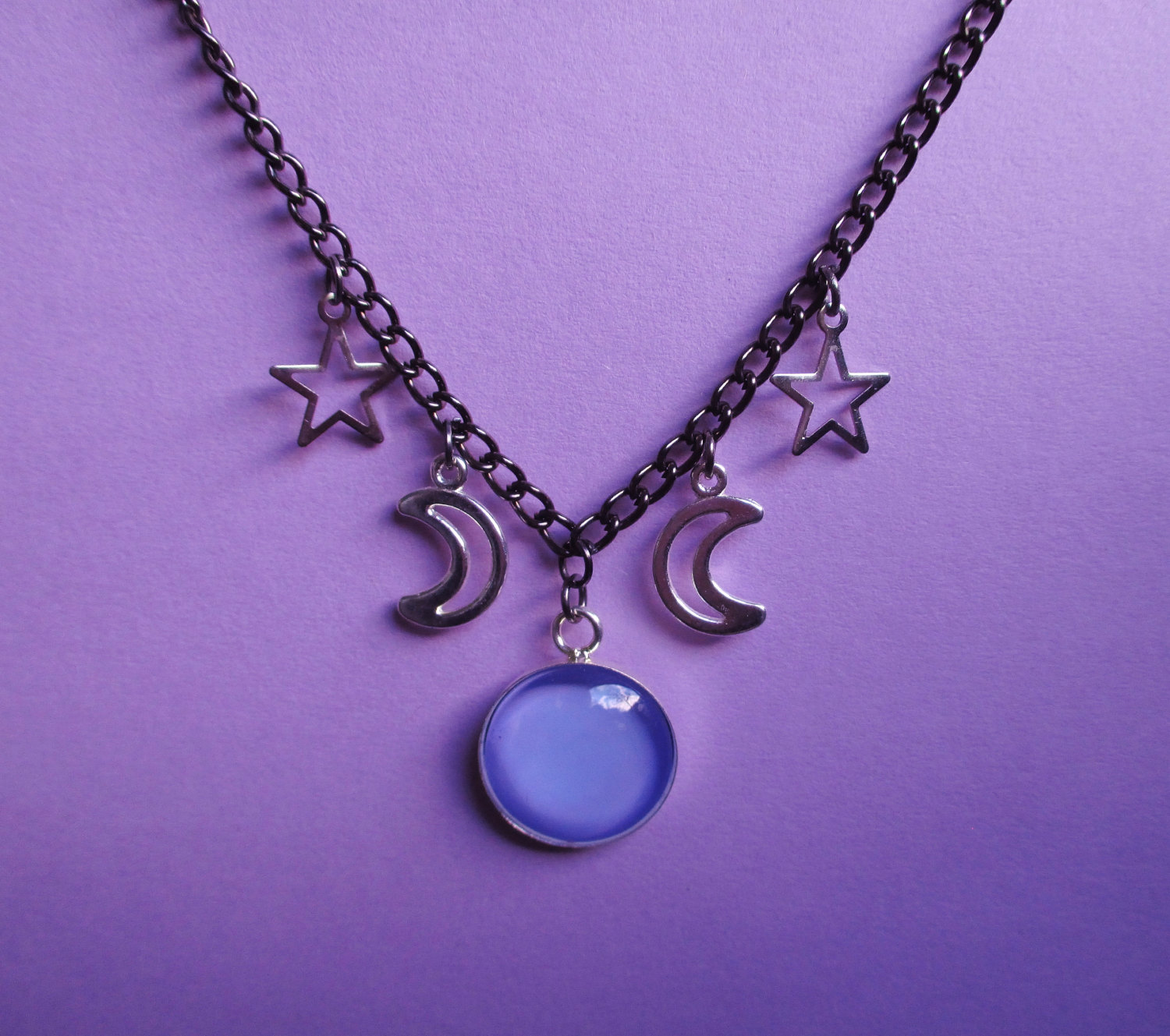 dp jewelry uk necklace celestial moon amazon co