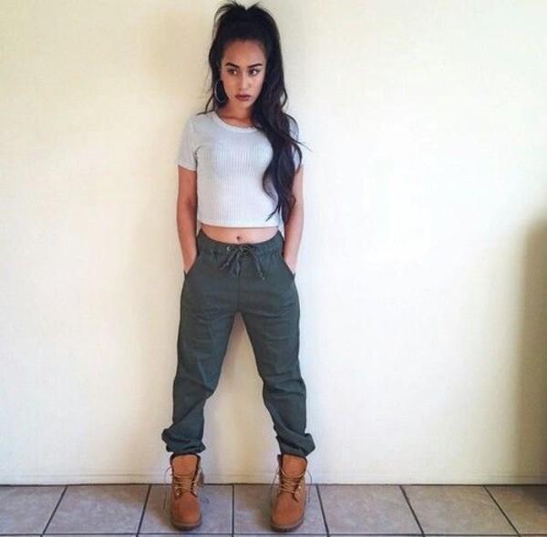shoes pants cargo pants shirt drawstring pants