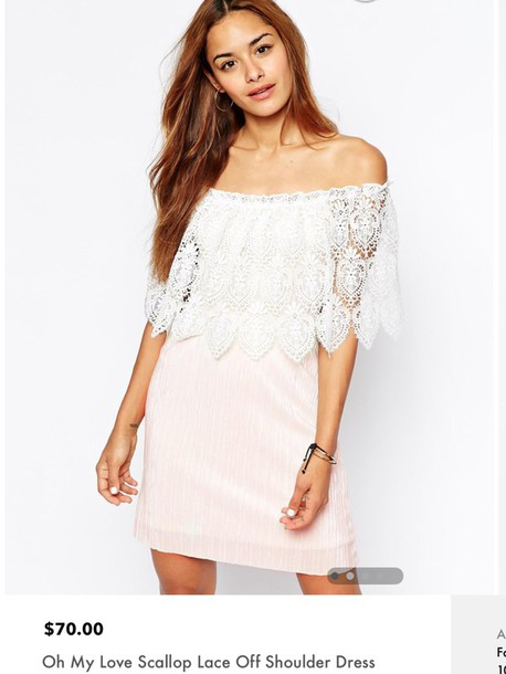 dress white oh my love off shoulder dress