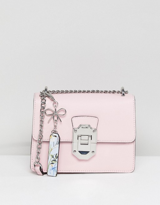 ALDO Cross Body Bag with Silver Hardwear in Pink at asos.com