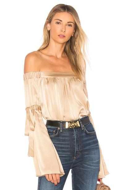 L'Academie blouse cream top