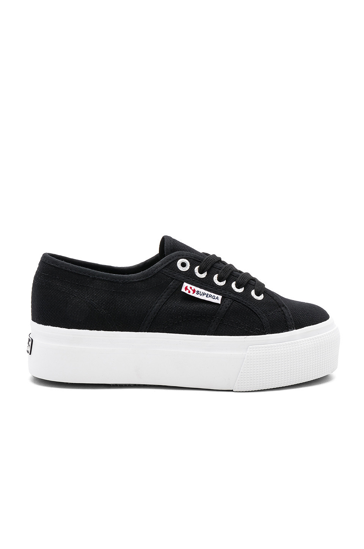 Superga 2790 Platform Sneaker in black