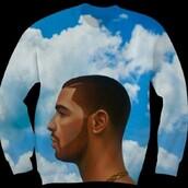 sweater,drake,blue,clouds,sweatshirt,nothing was the same,trendy,celebrity,shirt,bag