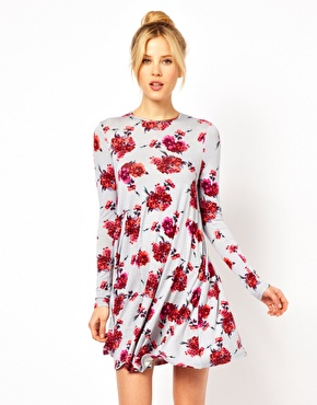 ASOS | ASOS Swing Dress In Floral Print at ASOS