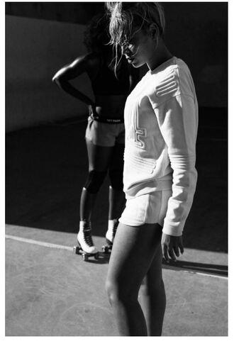 sweater white beyonce ivy park sportswear sweatshirt