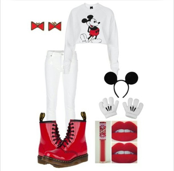 sweater mickey mouse sweater shoes