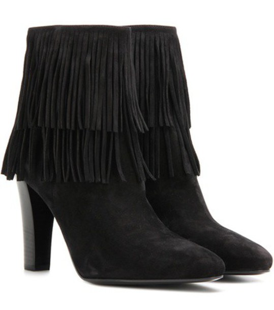 Saint Laurent suede ankle boots boots ankle boots suede black shoes