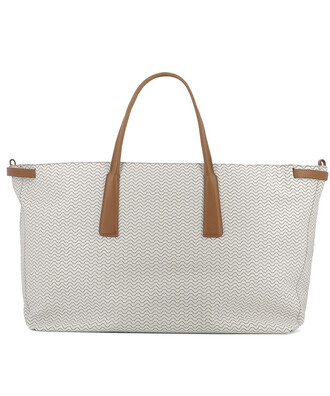 bag leather white beige