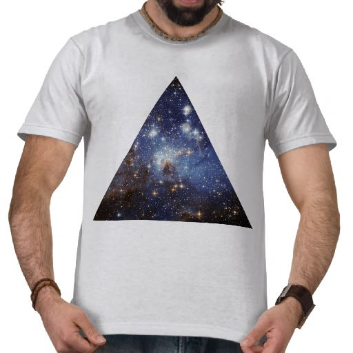 hipster space triangle shirt from Zazzle.com