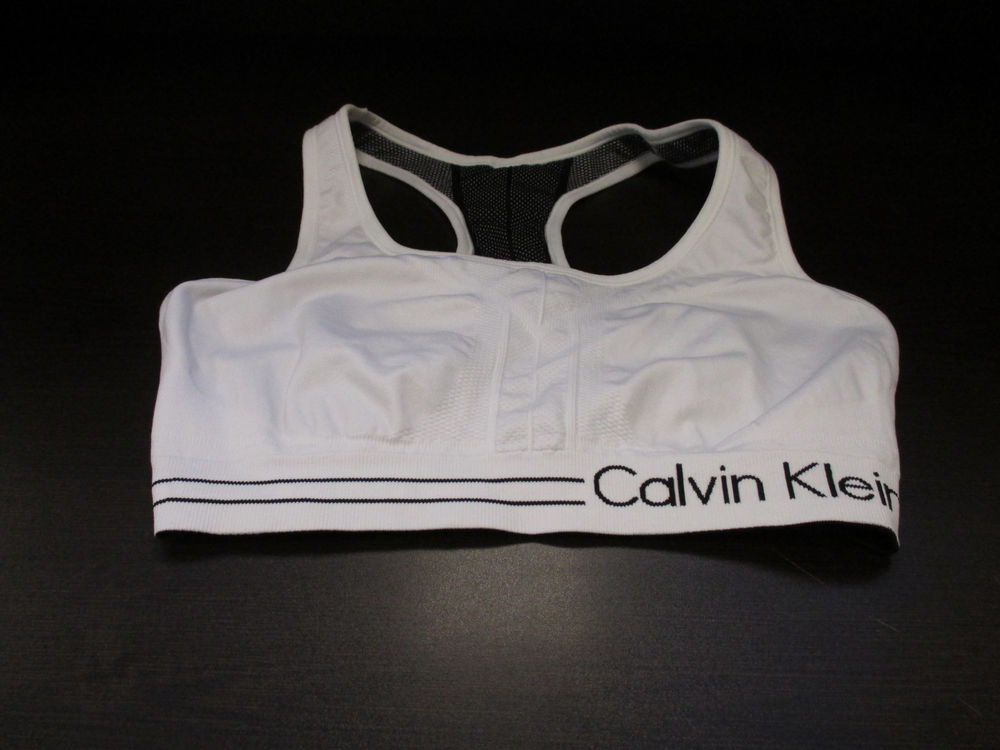 calvin klein performance reversible sports bra xl white. Black Bedroom Furniture Sets. Home Design Ideas