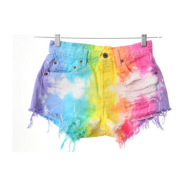 Tie-Dye Shorts! - Levi's - Polyvore