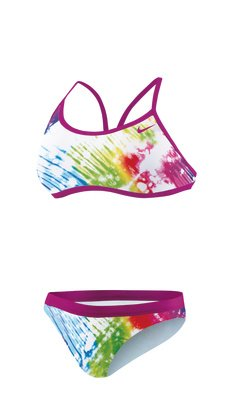 Amazon.com: Nike Tie Dye 2 Piece Adjustable Sport Top Swimsuit - Women's Size 24 Color Magenta: Clothing