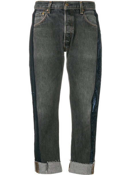KENDALL+KYLIE jeans cropped jeans cropped women cotton black
