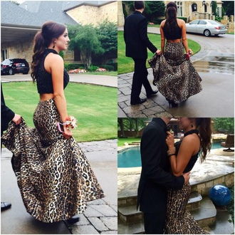 dress homecoming dress homecoming animal print formal event outfit skirt