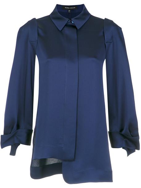 Gloria Coelho shirt women blue top