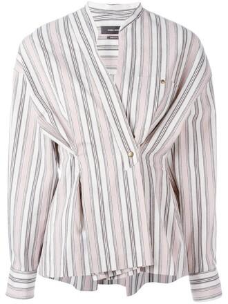 shirt women cotton purple pink top