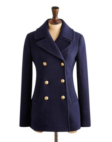 Marine navy portia wool pea coat