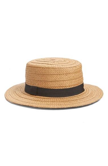 Hinge Straw Boater Hat | Nordstrom