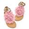 Big flower buckle sandals