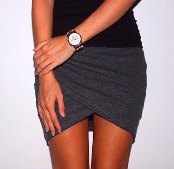 skirt grey sexy
