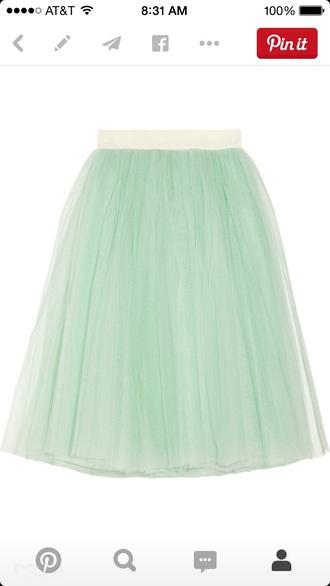 skirt mint skirt